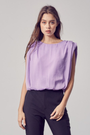 Do + Be  Shoulder Pad Tank - Front cropped
