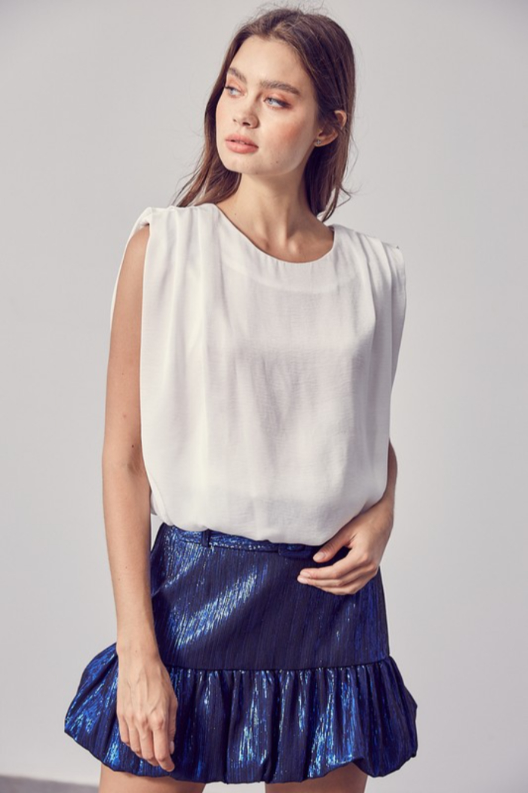 Do + Be  Shoulder Pad Tank - Front Cropped Image