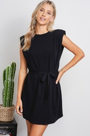 Jolie Shoulder Pad Tank Dress - Product Mini Image