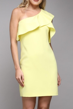 Shoptiques Product: Shoulder Ruffle Dress
