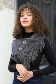 Leto shoulder scarf with buttons - Product Mini Image