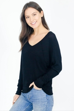 Six Fifty Shoulder Seamed Waffle Top - Product List Image