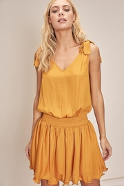 Mustard Seed Shoulder Tie Smocked Dress - Product Mini Image