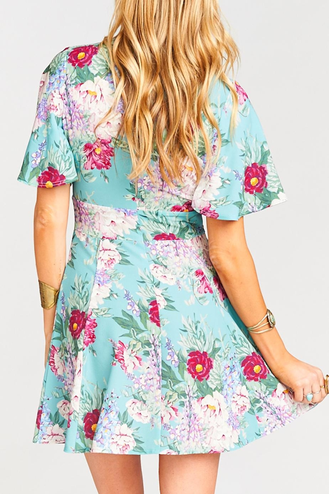 Show Me Your Mumu Aubrey Floral Dress - Back Cropped Image