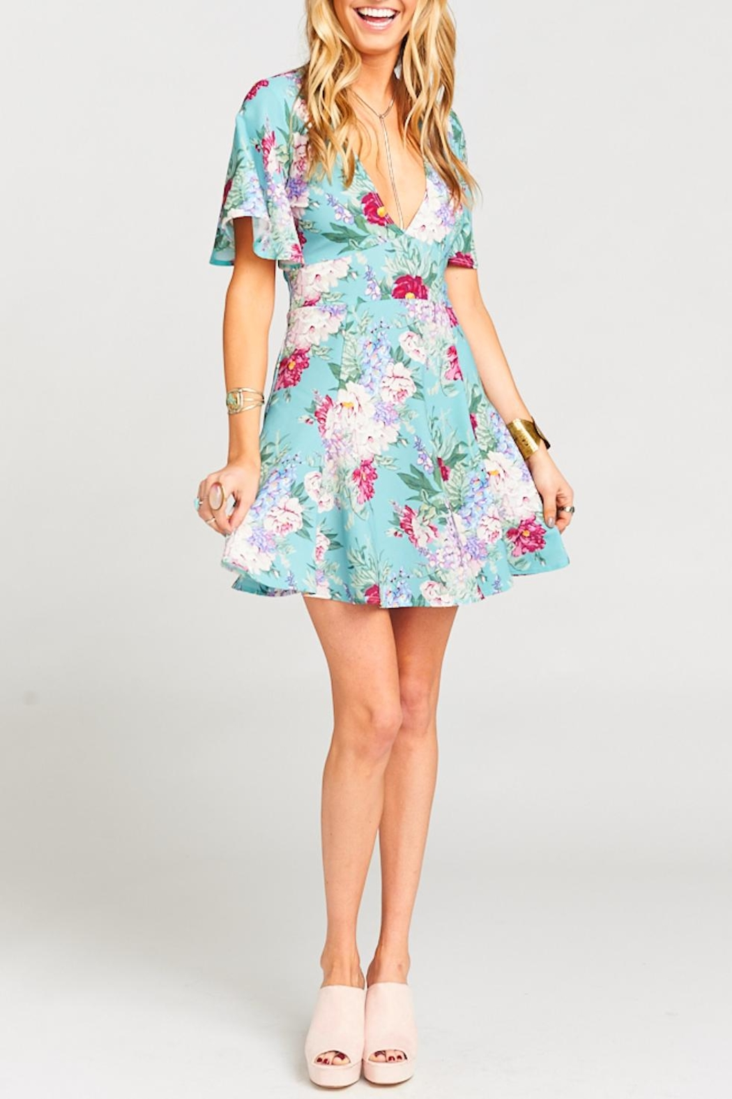 Show Me Your Mumu Aubrey Floral Dress - Side Cropped Image