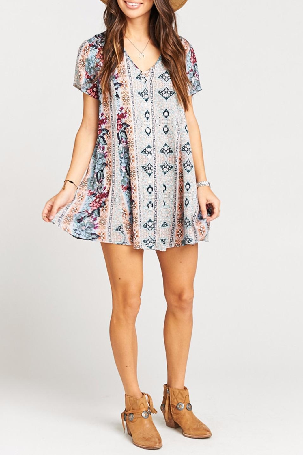Show Me Your Mumu Bennett Babydoll Dress - Back Cropped Image