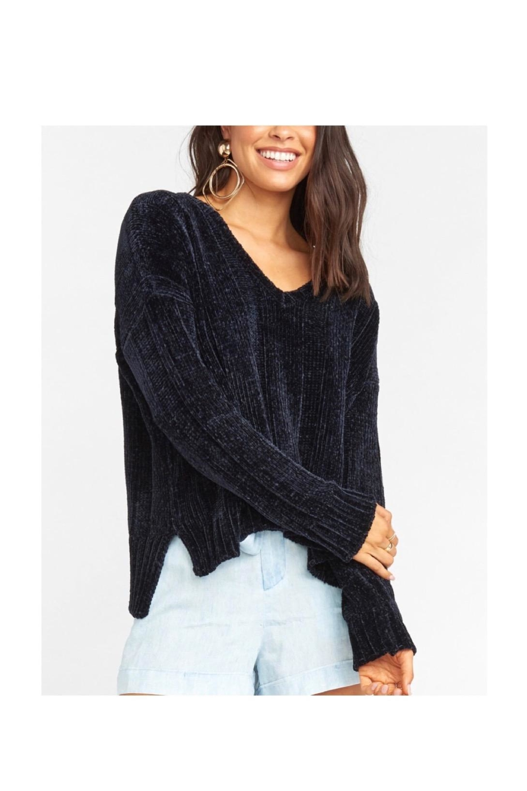 Show Me Your Mumu Black Sweater - Front Cropped Image