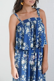 Show Me Your Mumu Blue Floral Top - Front cropped
