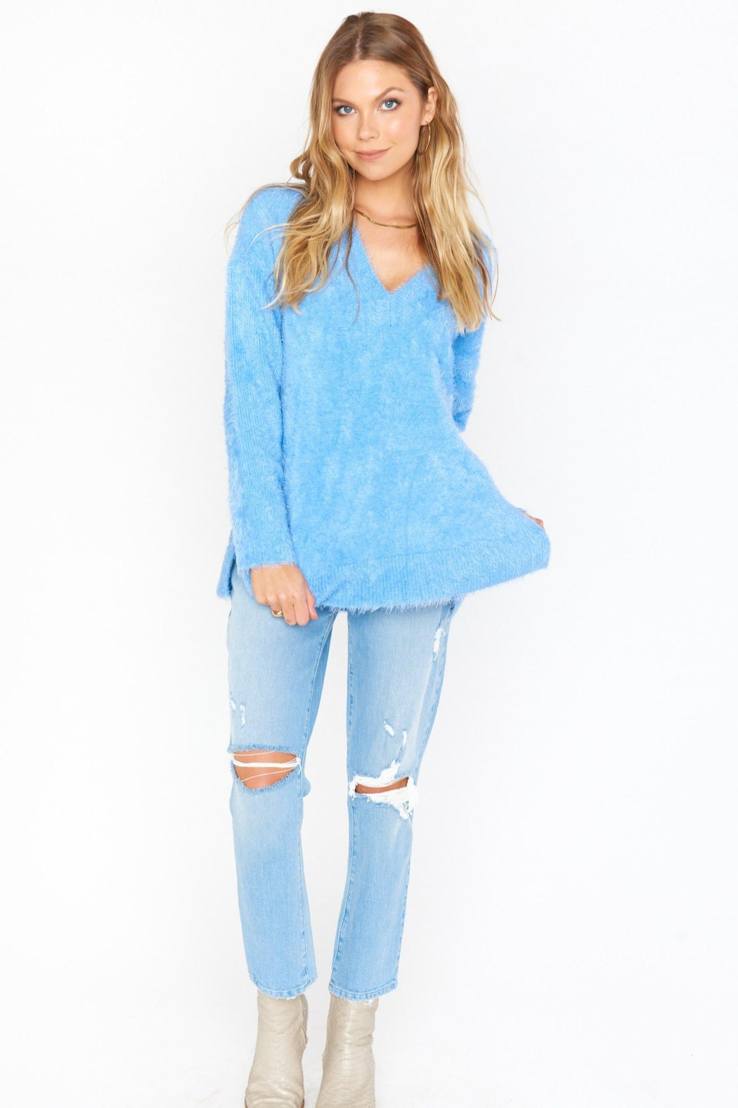Show Me Your Mumu Cozy Forever Sweater - Back Cropped Image