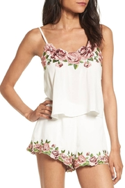 Show Me Your Mumu Embroidered Crop Top - Front cropped