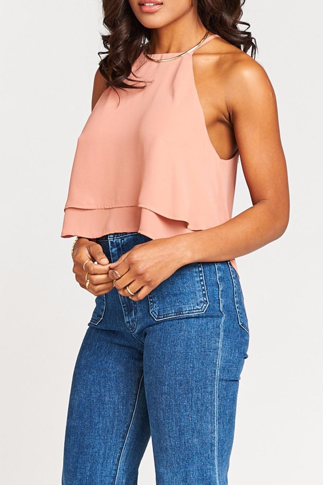 Show Me Your Mumu Evie Crop Top - Side Cropped Image
