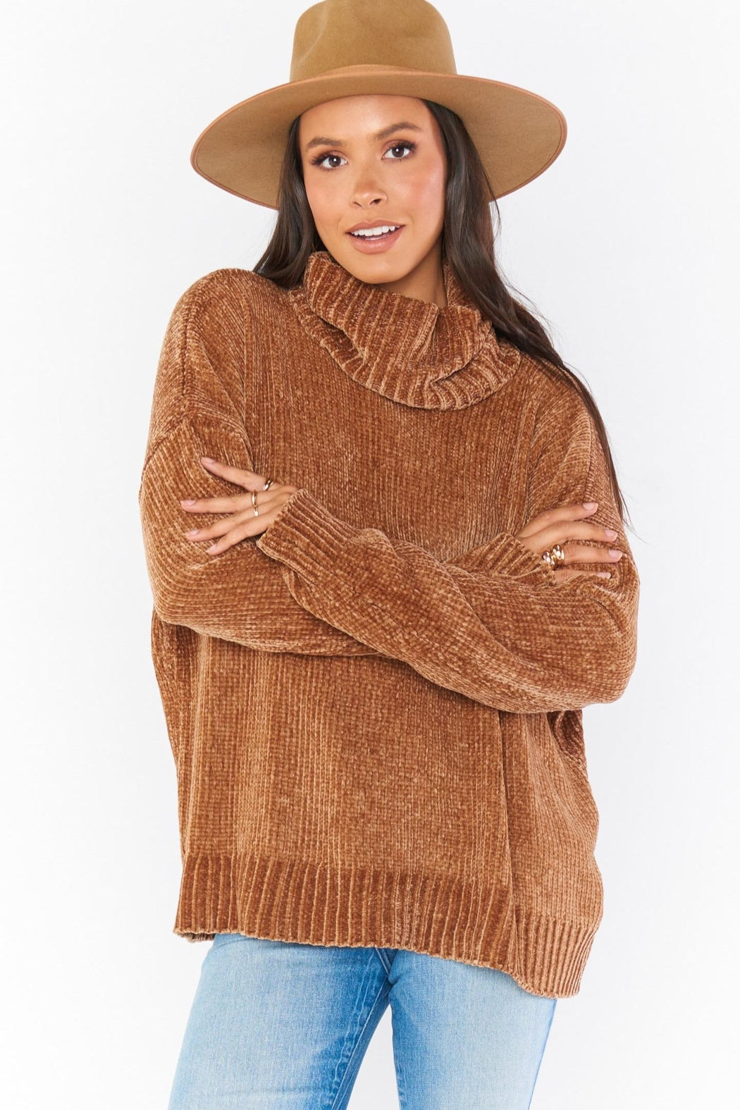 Show Me Your Mumu Fatima Turtleneck Sweater - Front Cropped Image