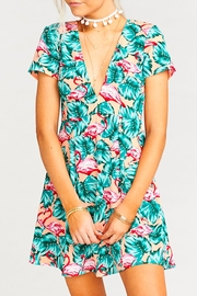 Show Me Your Mumu Flamingo Floral Print Dress - Product Mini Image