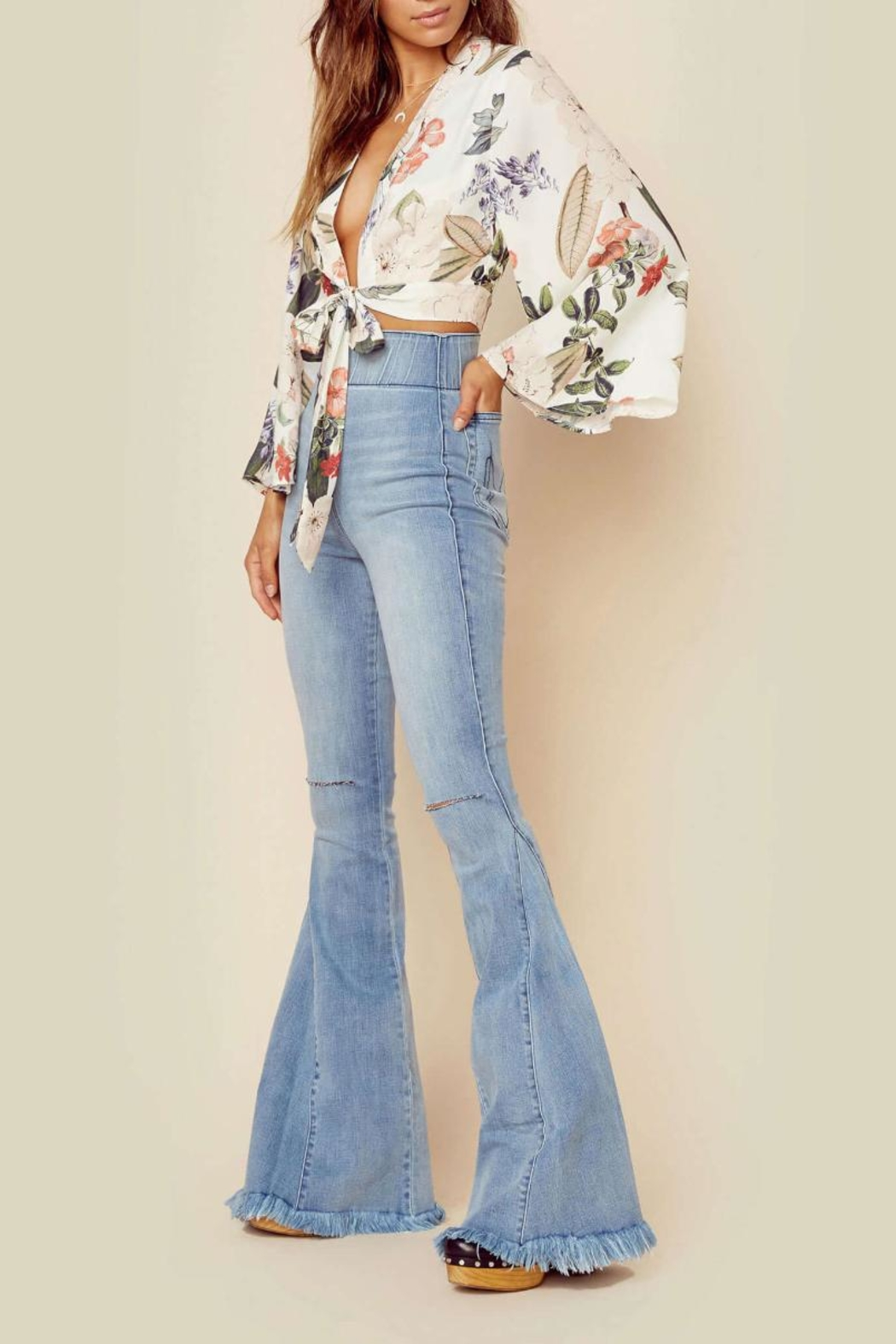 Show Me Your Mumu Floral Tie Top - Front Full Image