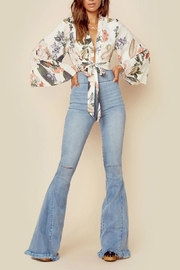 Show Me Your Mumu Floral Tie Top - Front cropped