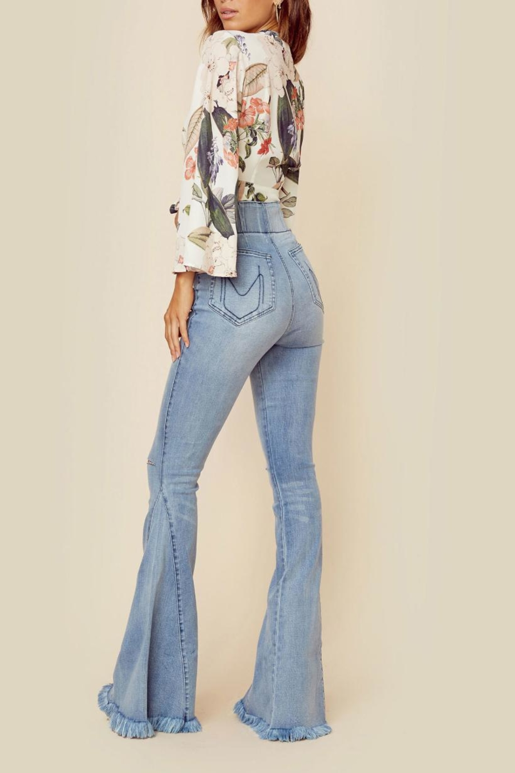 Show Me Your Mumu Floral Tie Top - Side Cropped Image
