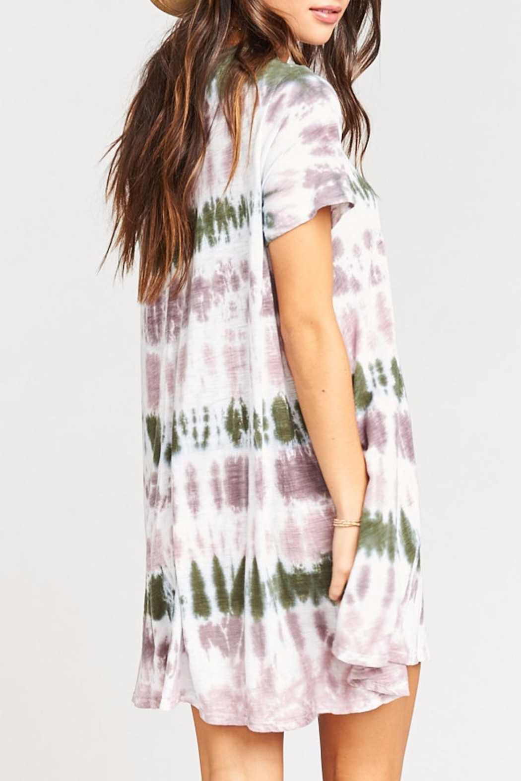 Show Me Your Mumu Gant Flow Tunic  Dress - Back Cropped Image