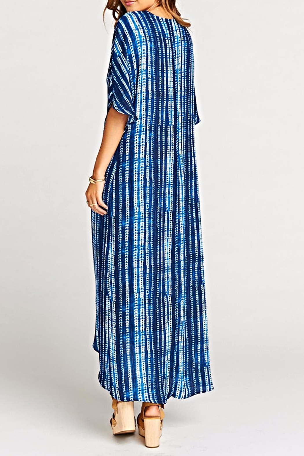 Show Me Your Mumu Get Twisted Maxi-Dress - Back Cropped Image