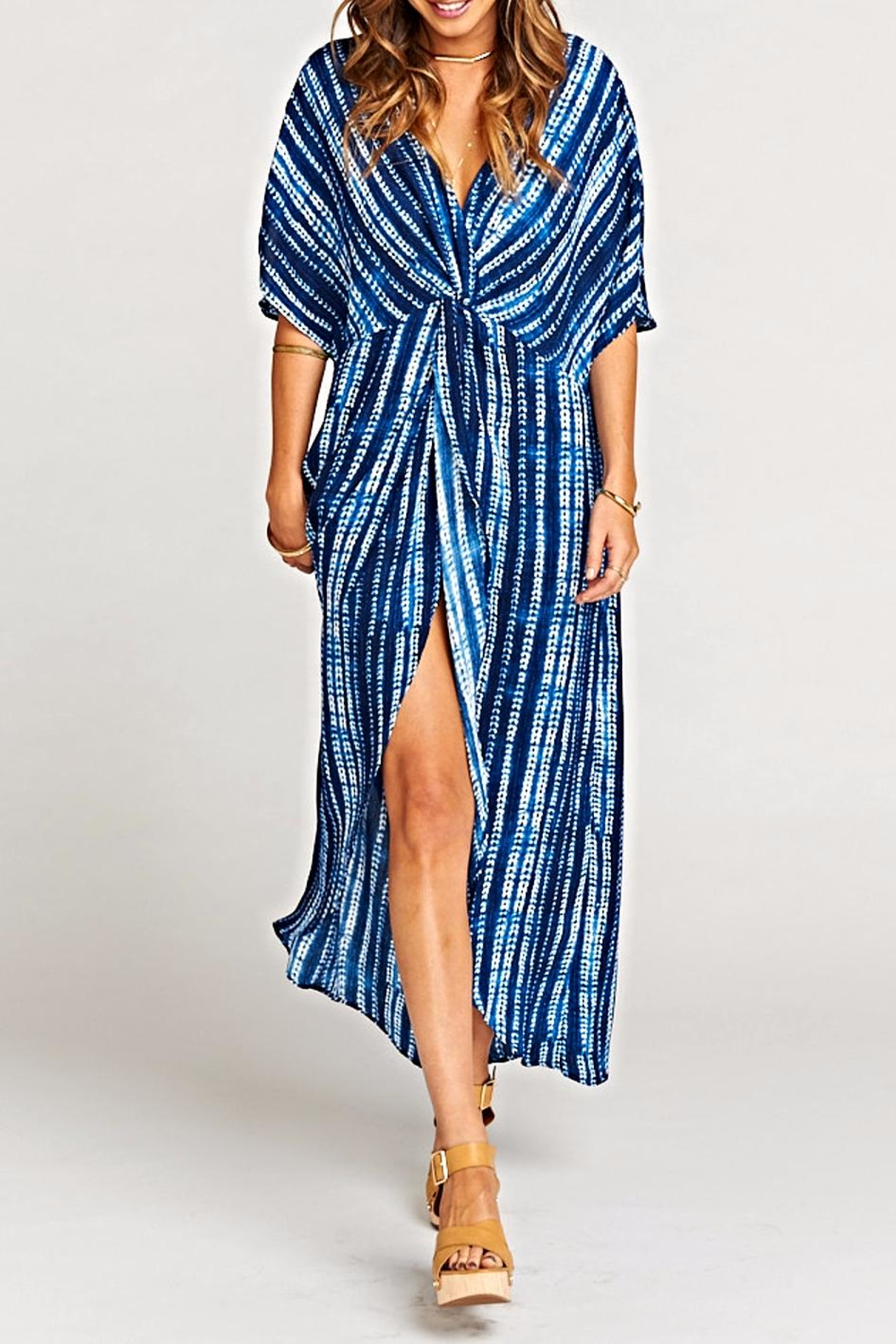 Show Me Your Mumu Get Twisted Maxi-Dress - Front Full Image