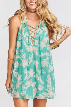 Show Me Your Mumu Green Tie-Up Dress - Product List Image