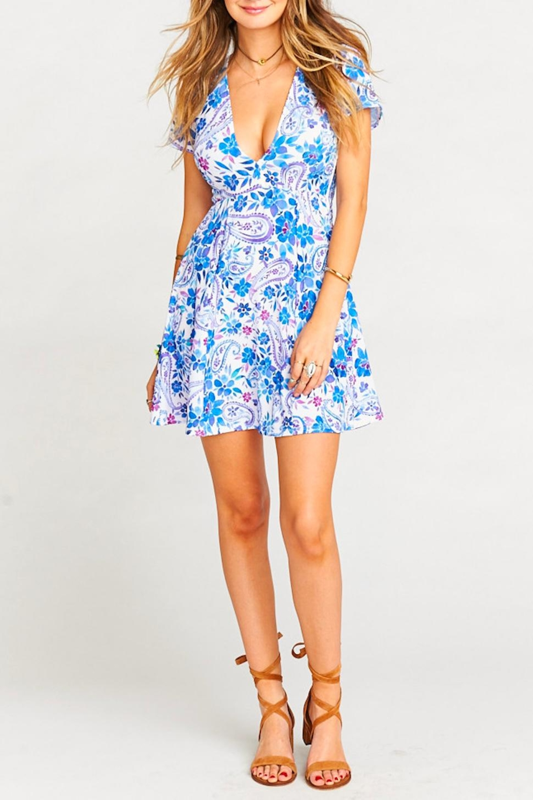 Show Me Your Mumu Ibiza Floral Dress - Front Cropped Image