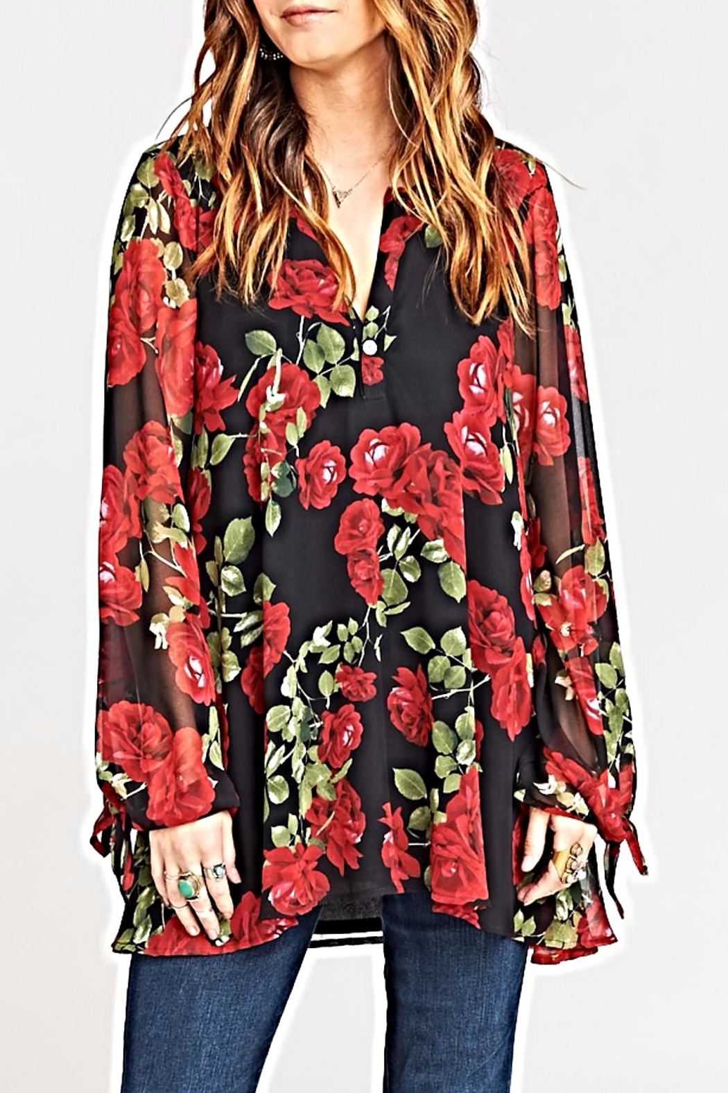 Show Me Your Mumu Johanna Tunic Top - Front Full Image