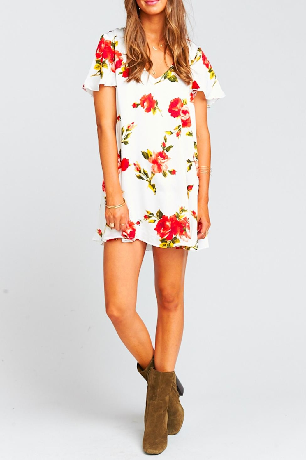 Show Me Your Mumu Kylie Floral Dress - Side Cropped Image