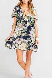 Show Me Your Mumu Kylie Lace-Up Dress - Front cropped