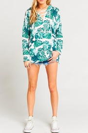 Show Me Your Mumu Lace-Up Palm Sweater - Product Mini Image