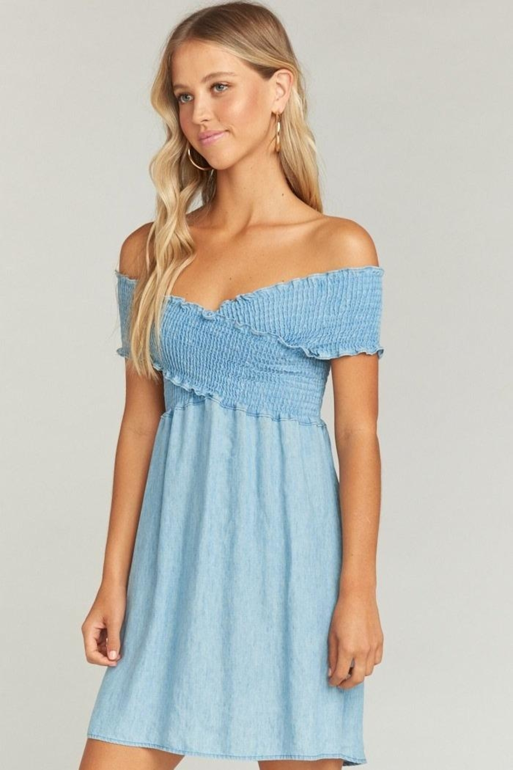 Show Me Your Mumu Mandy Smocked Dress - Back Cropped Image