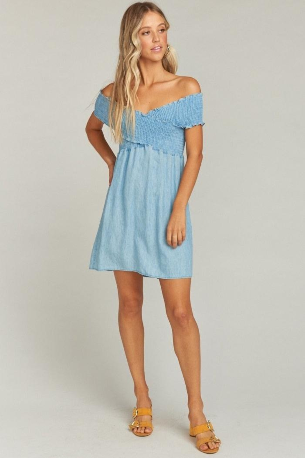 Show Me Your Mumu Mandy Smocked Dress - Side Cropped Image