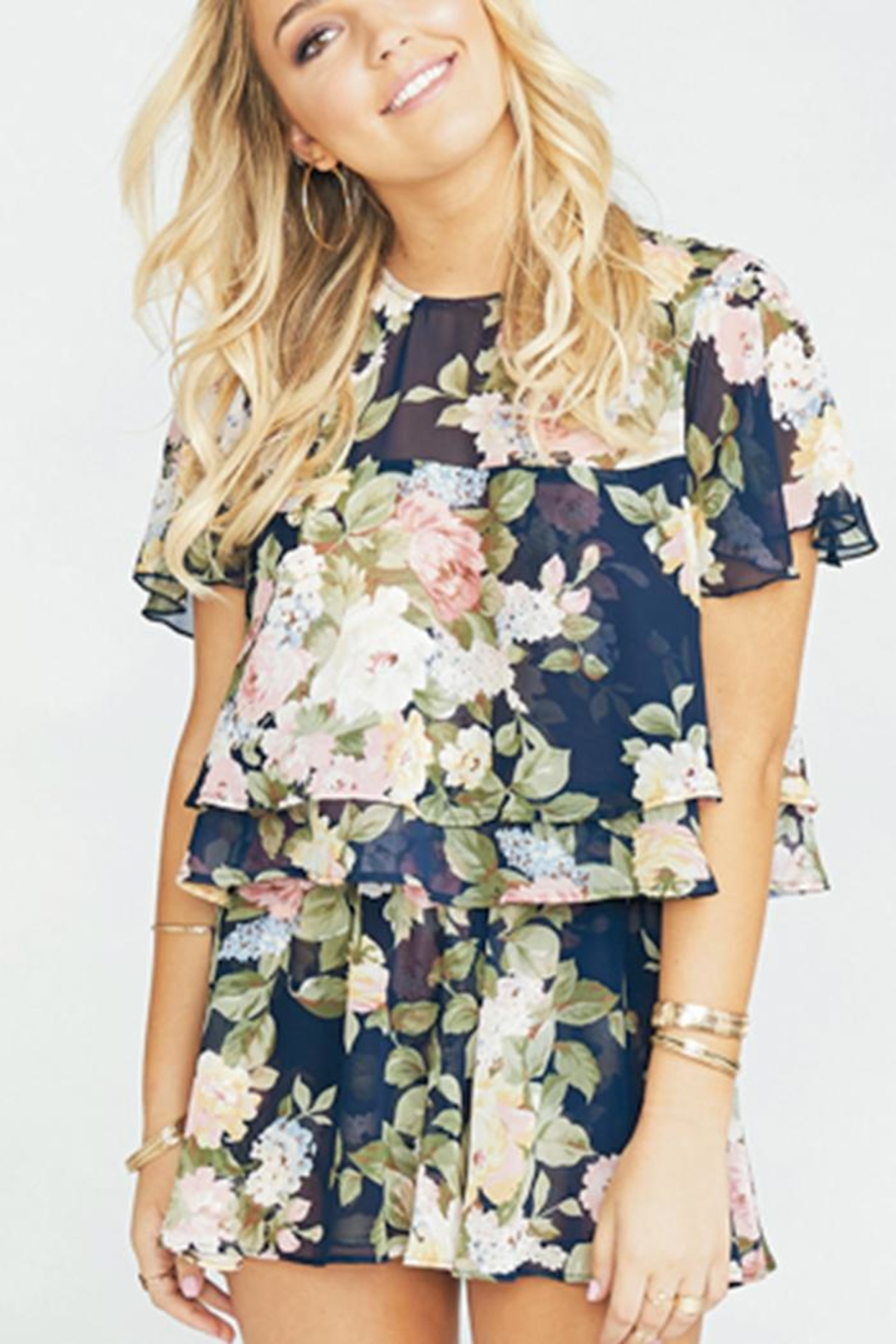 Show Me Your Mumu Margie Crop Top - Front Cropped Image