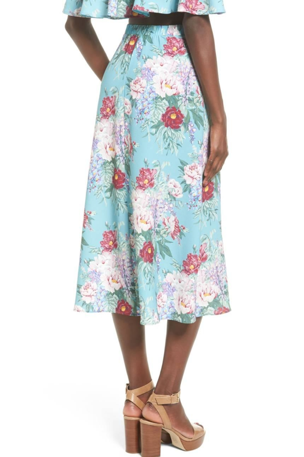 Show Me Your Mumu Mint Floral Skirt - Side Cropped Image