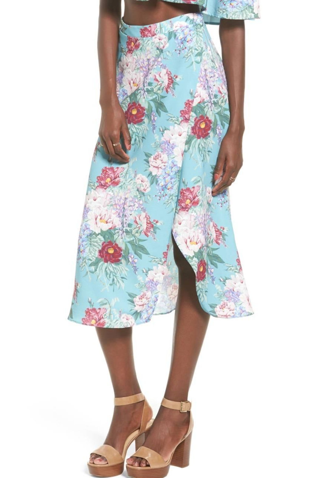 Show Me Your Mumu Mint Floral Skirt - Front Cropped Image