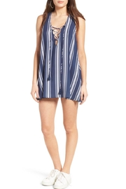 Show Me Your Mumu Navy Stripe Sporty Dress - Product Mini Image