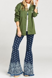 Show Me Your Mumu Olive Bull Jacket - Front full body