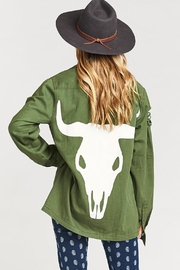 Show Me Your Mumu Olive Bull Jacket - Front cropped