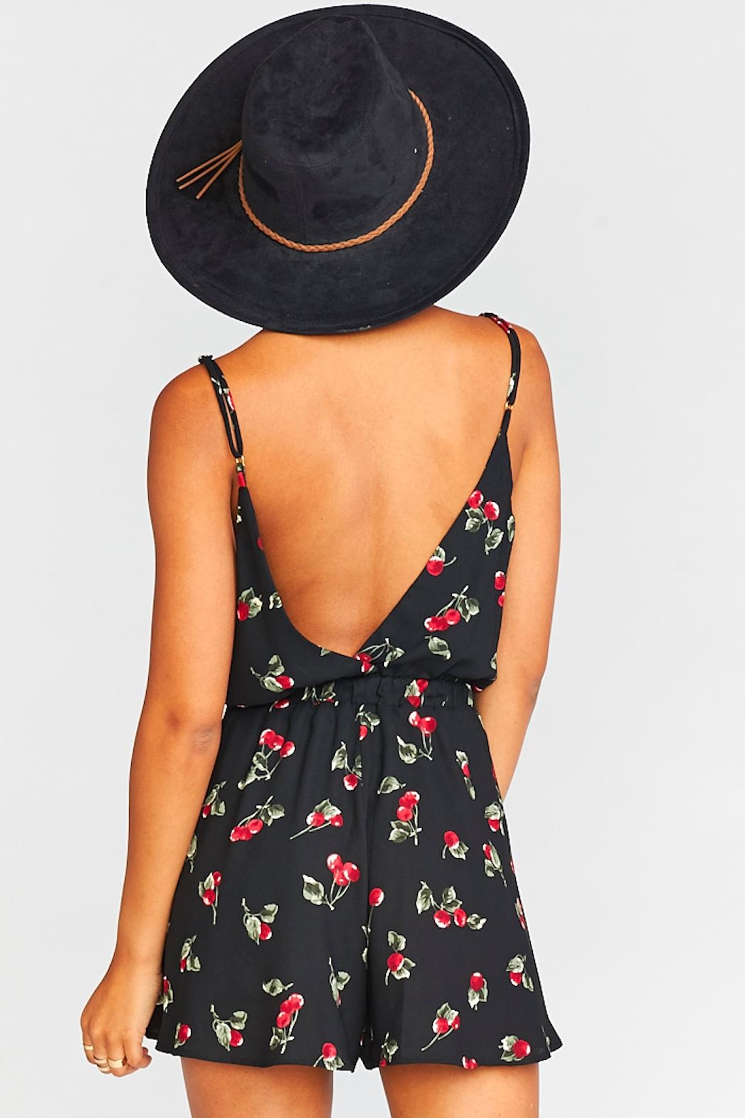 Show Me Your Mumu Olympia Crossover Romper - Back Cropped Image