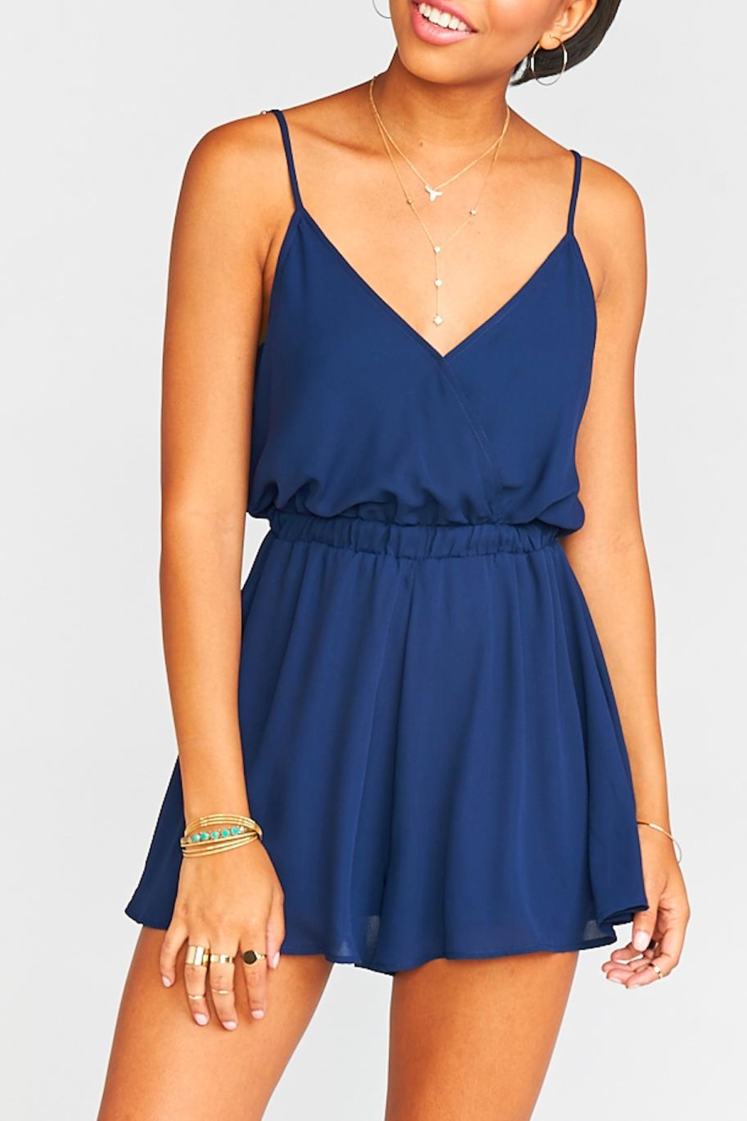 Show Me Your Mumu Olympia Crossover Romper - Front Cropped Image
