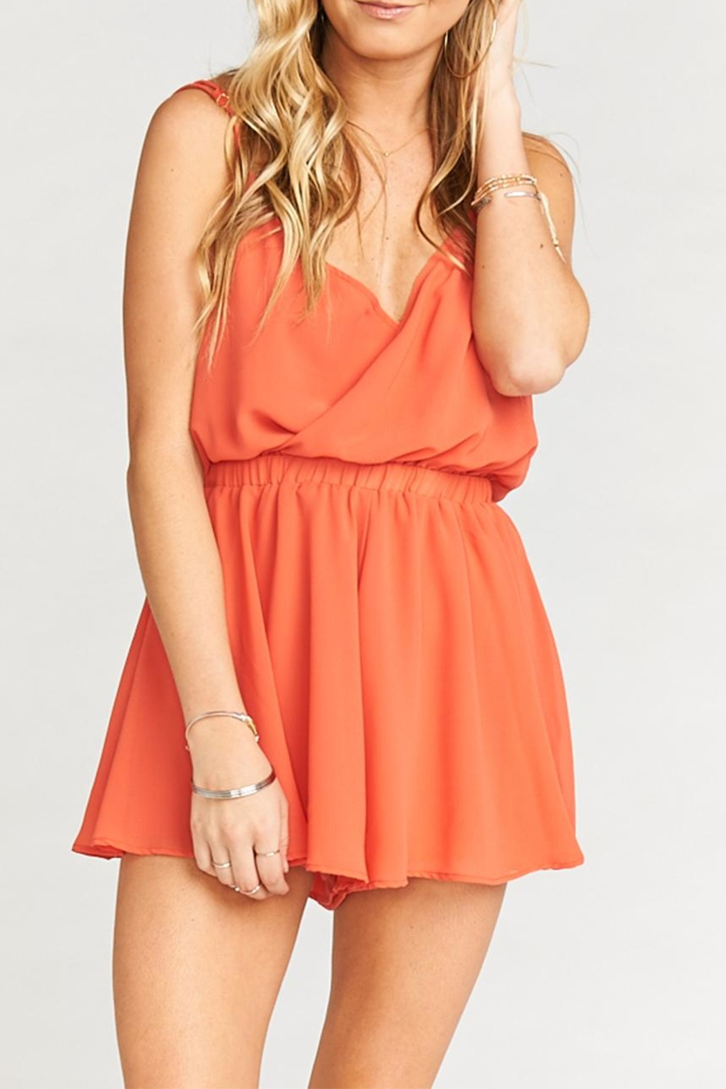 Show Me Your Mumu Olympia Romper - Front Cropped Image