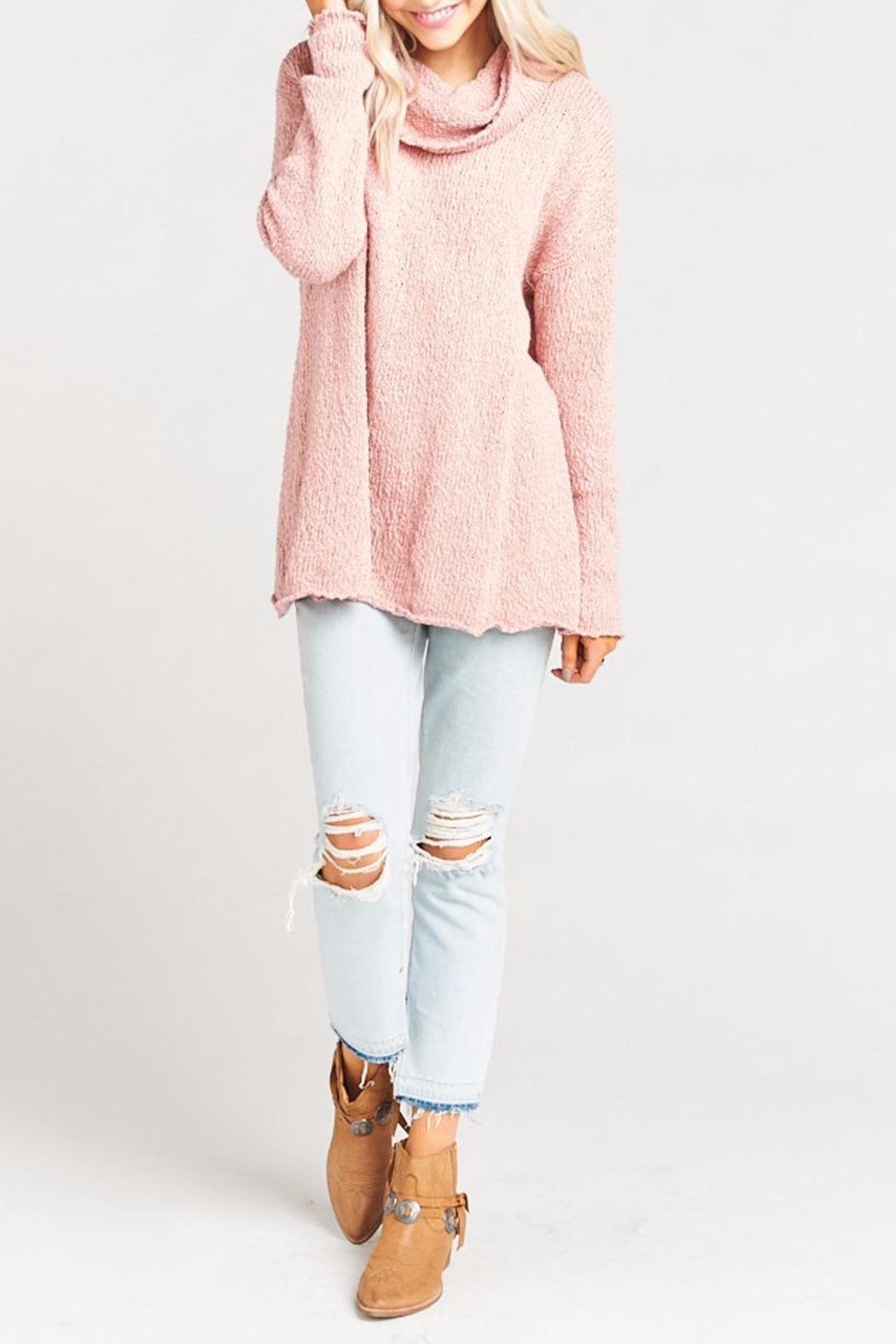 Show Me Your Mumu Overtop Sweater - Back Cropped Image