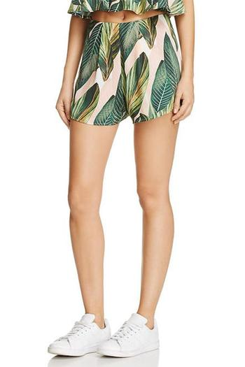 Shoptiques Product: Palm Print Shorts - main