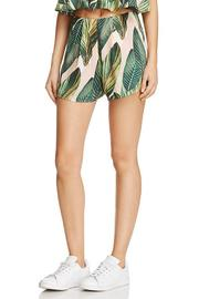 Shoptiques Product: Palm Print Shorts - Front cropped