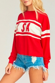 Show Me Your Mumu Payton Crop Pulloever - Front cropped