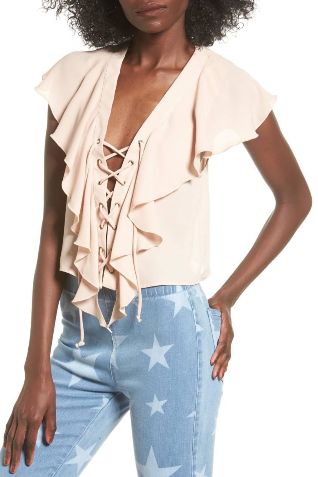 Show Me Your Mumu Pink Ruffle Top - Main Image