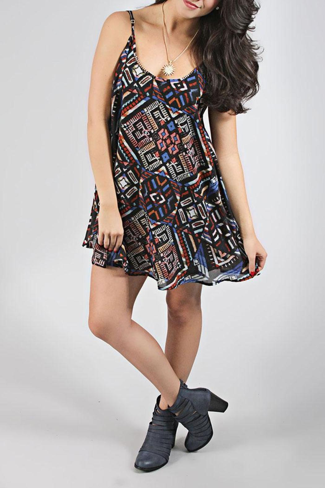 Show Me Your Mumu Printed Boho Dress - Front Cropped Image