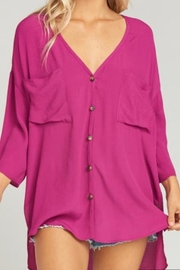 Show Me Your Mumu Purple Chiffon Blouse - Product Mini Image