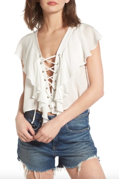 Shoptiques Product: Ruffle White Top