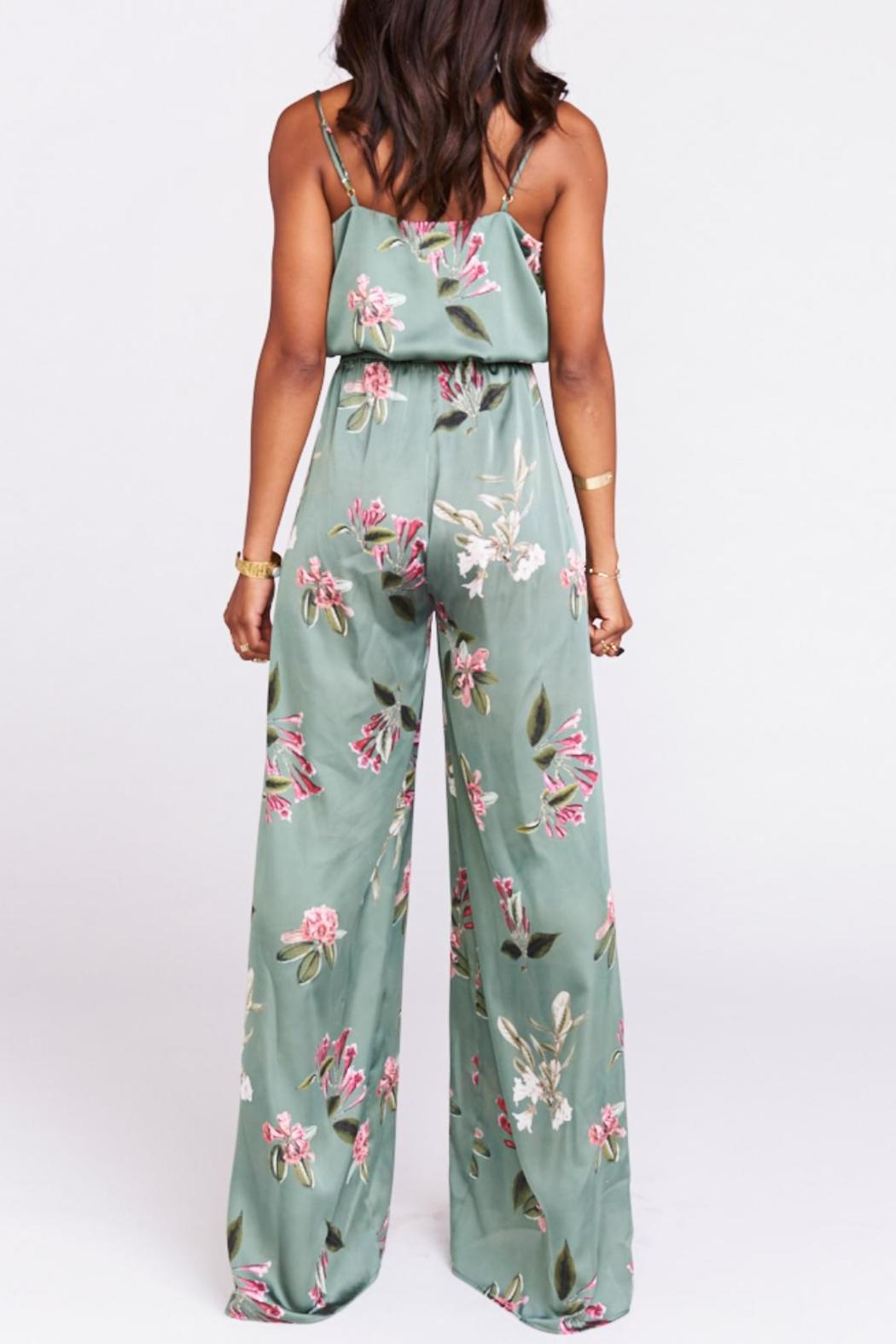 Show Me Your Mumu Satin Floral Jumpsuit From Dallas By