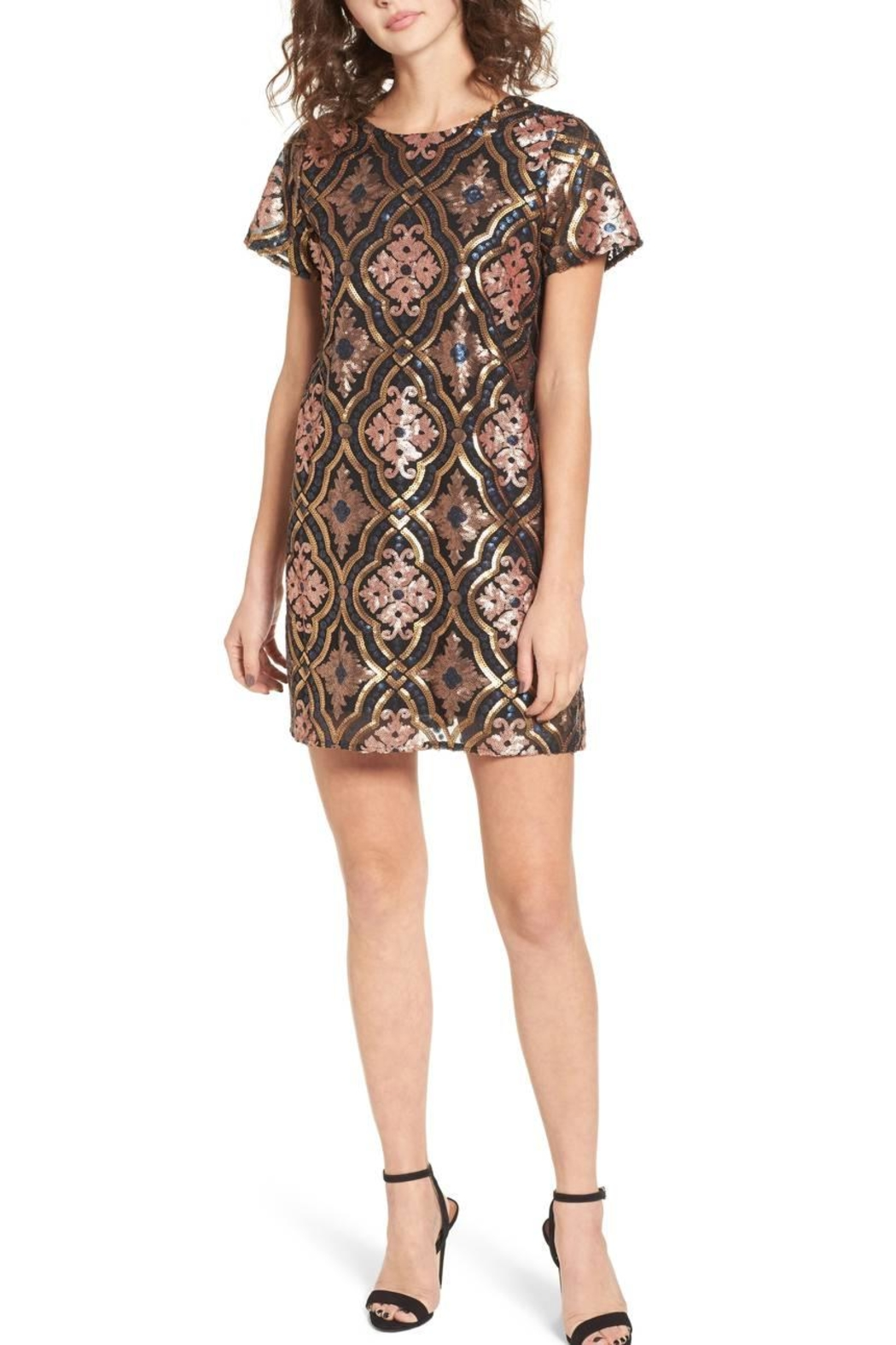 Show Me Your Mumu Sequins Colorful Dress - Front Cropped Image